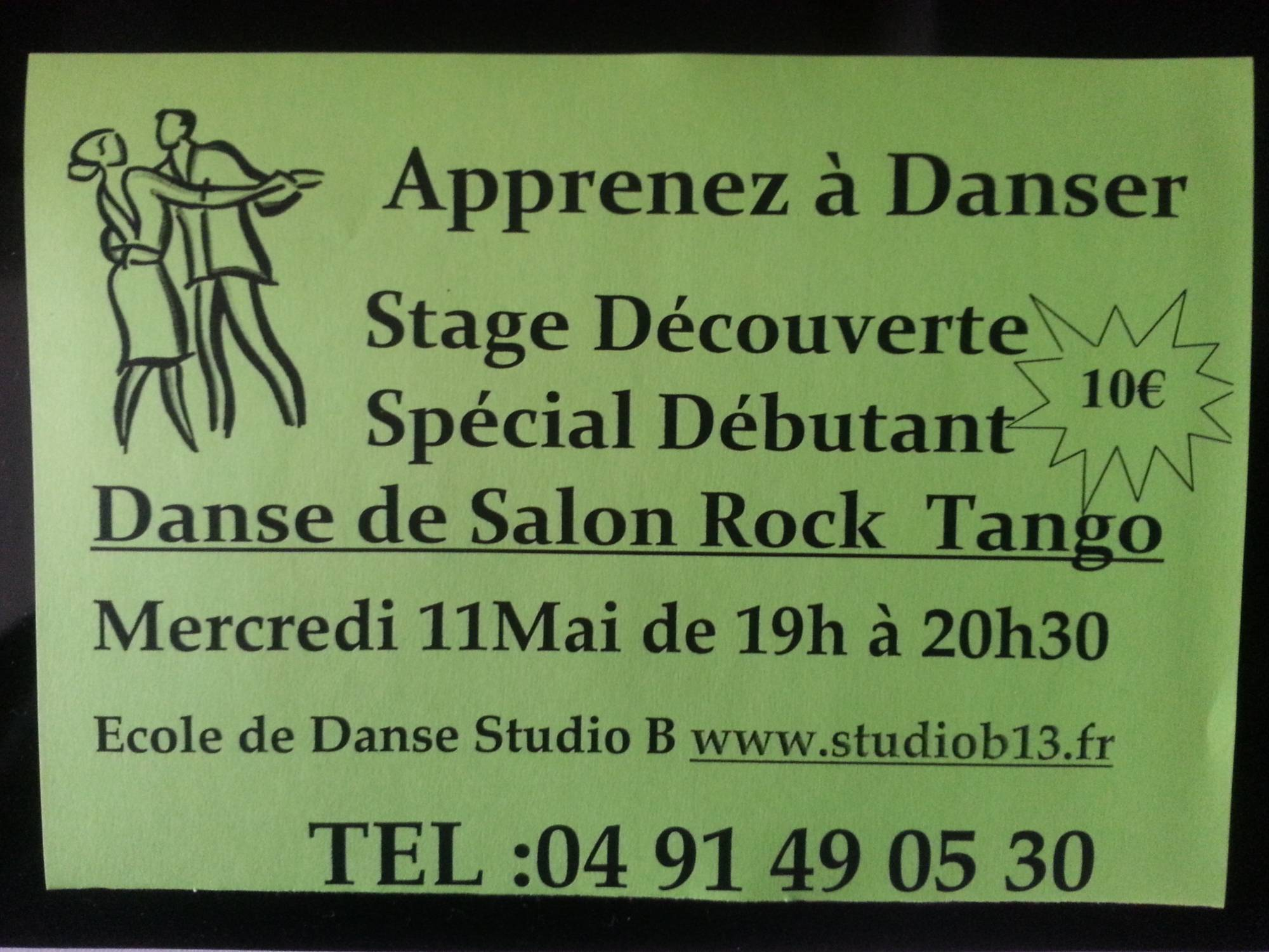 Danse de salon stage d couverte studio b marseille cours for Cours de danse de salon 92